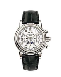 Patek Philippe Grand Complications Perpetual Calendar Split-Second Chronograph Mens Watch 5004P-021