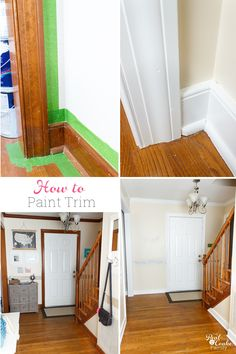 Such a great guide on how to paint trim! It goes step by step on how to complete this simple DIY and make pretty changes in my home decor. #RealCoake #DIY #Paint #HomeDecor #HowTo #Trim #HowtoPaintTrim
