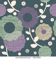 purple flower background - stock vector