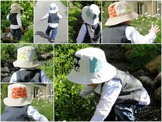 Mud, Pies and Pins: One Hat, Two Looks. Reversible bucket hat. Umbrella Prints Timmings Competition