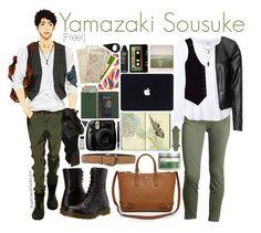 """Yamazaki Sousuke [Free!]"" by anggieputeri ❤ liked on Polyvore featuring Dr. Martens, Current/Elliott, Splendid, Zizzi, Nanette Lepore, Tory Burch, Paolo Vitale, Royce Leather, Polaroid and Moleskine"