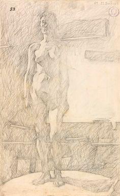 Σάμιος Παύλος (1948- )    1969 σχέδιο με μολύβι Academic Art, Art Studies, Greek, Fine Art, Statue, Drawings, Artwork, Painting, Image