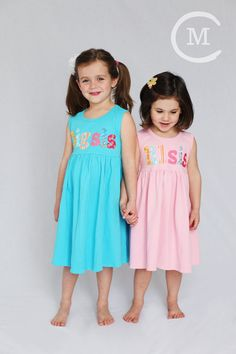 Big Sister Little Sister Dress Set- Sibling Dress- Big Sis Lil Sis- You Choose Dress Color and Sleeve Length on Etsy, $55.00