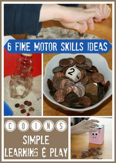 Using Coins Fine Motor Skills Play and Counting