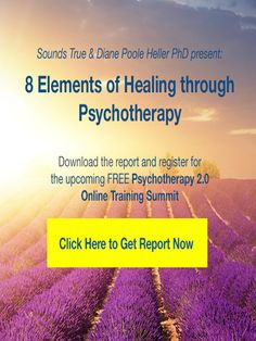 Get the free report by Diane Poole Heller on the 8 Elements of Healing through Psychotherapy and register for the online training summit!