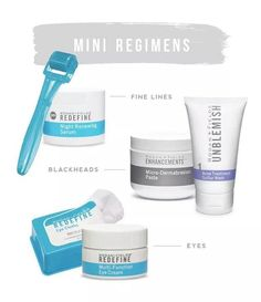 These are my absolute FAVORITE mini regimens and products. I love using the UNBLEMISH wash and micro derm paste to rejuvenate my skin and get rid of blackheads. Message me to try one of these amazing mini facial kits! andunc04@gmail.com ashleyduncan.myrandf.com