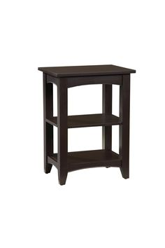 The Shaker Cottage Style 2 Shelf End Table help keep your room neat and organized.