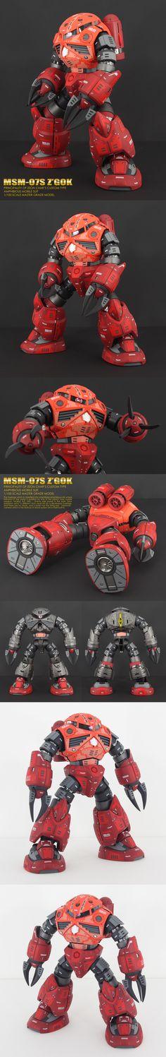 シャア専用ズゴック | ZENプラ工房のホームページ Battle Bots, Gundam Model, Mobile Suit, Art Model, Plastic Models, Bambi, My Hero, Robot, Action Figures
