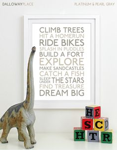 Baby Boy Nursery Art Print  subway art for by DallowayPlaceKids, $21.00 **Personally, I think this would be great in my girls' room as well, not just a boys room!! GOSTO