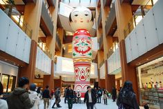 Largest Kokeshi Tokyo Midtown, Japanese Beauty, City Streets, Outdoor Decor, Home Decor, Decoration Home, Room Decor, Home Interior Design, Home Decoration
