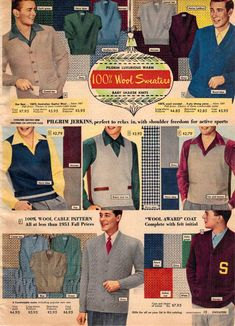 1000 Images About 1950s Men S Fashion Ads On Pinterest