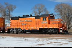 High quality photograph of Great Western Railway EMD # GRW 2243 at Fort Collins, Colorado, USA. Locomotive, Union Pacific Railroad, Old Trains, Great Western, Fort Collins, Colorado, Flag, Automobile, Science