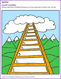 Jacob's Ladder (Activity) - Kids Korner - BibleWise