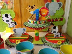 Wild One Birthday Party, Baby First Birthday, First Birthday Parties, First Birthdays, Jungle Party, Safari Party, Noahs Ark Theme, Animal Party, Lol