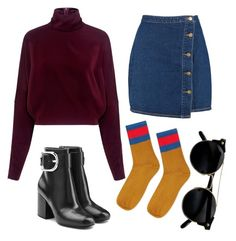 """""""*insert a Monday quote here*"""" by redapplecigarettes ❤ liked on Polyvore featuring McQ by Alexander McQueen, Boohoo, Alexander Wang and Topshop"""