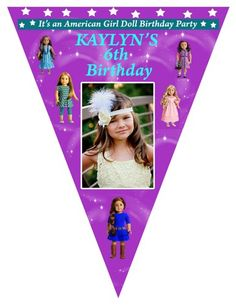 American Girl Pennant Banner, banners, american girl, party banners | JillsCreativeCreations - Cards on ArtFire