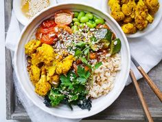 Roasted Turmeric Cauliflower Buddha Bowls make such a colourful healthy meal! This vegan and gluten free recipe is really easy to make and is very flexible, it can accommodate whatever veggies you have around. I love throwing together a bright buddha bowl for lunch or dinner, and often have a few bits and pieces pre-prepped...Read More »