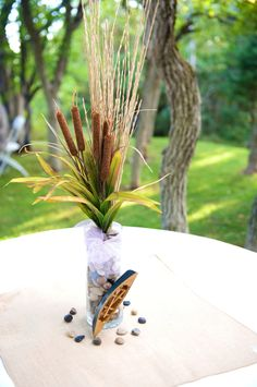 Fishing Wedding, Camo Wedding, Our Wedding, Wedding Centerpieces, Wedding Decorations, Table Decorations, Fishing Decorations, Fish Centerpiece, Lake Party