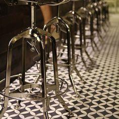 Cement Tile Shop - Encaustic Cement Tile Circulos Black Mex
