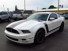This 2013 Ford Mustang Boss 302 is listed on Carsforsale.com for $22,995 in Fort Myers, FL. This vehicle includes (2) covered cupholders,Air conditioning,Alcantara suede-wrapped steering wheel,Bright aluminum pedal covers,Driver footrest,Front black floor mats,Instrument cluster -inc: 4.2 LCD message center, track apps,Leather-wrapped parking brake handle,Locking center console -inc: armrest, storage bin,MyKey system -inc: top speed limiter, audio volume limiter, early low fuel warning…