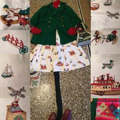 I always look at #toys at #xmas wondering what the #child in  me would put on #Santas#list.I like #vintage#toys but perhaps I could go for a #robotic#housemaid or #librarian to clear up my #sons#books !#vintage#xmas#dress with#poincetta #buttons#vintagecoat and #bag #ootd#lotd#vintagetoys#noveltyprint#peruvian#handnitted#gloves#messyboysarehappyboys
