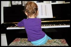 piano with toddler