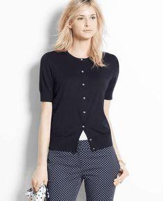 ann taylor | Short Sleeve Ann Cardigan #anntaylor #cardigan
