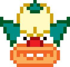 Simpsons 'Krusty the Clown' Pixel Art