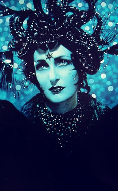 Siouxsie Sioux as a harpy, detail from a photograph by duo Pierre et Gilles