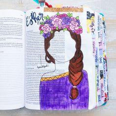 Esther Bible Journaling | Instagram: @christiangirls