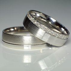 Verighete din aur sau platina cu diamante V118