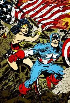 Captain America and Wonder Woman (coloring) by Jasontodd1fan on DeviantArt