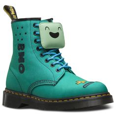 This season our Adventure Time fun continues with BMO who is main character Finn and Jake's friend, camera, alarm clock and video game system. His 8-eye multi-coloured boot comes complete with embroidered games console details on the toe, as well as a lace keeper. Our Reinvented range takes classic Dr. Martens styles and customises them, playing with their history to create something new every season.