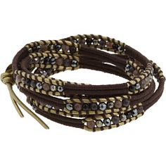 Chan Luu - Pyrite Mix Crystal Mix Single Bracelet
