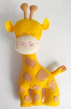 Giraffe Stuffed Animal Felt giraffe decor