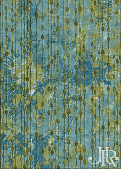'Ruby Room' in the colour-way 'Aqua'. From the 'Connextion' collection.  #awardwinning #jennyjonesrugs #handknotted #design