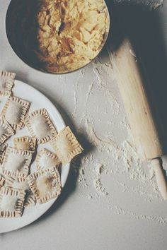 Inspiration for food photography. Baking, pastry. I like the use of flour on the counter.