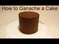 Chocolate Ganache Filled Cake - How to by Pink Cake Princess Cake With Fondant, Cake Icing Tips, Fondant Cakes, Cupcake Cakes, Cupcakes, Fondant Figures, Chocolate Ganache Cake, Chocolate Drip, Chocolate Peanut Butter
