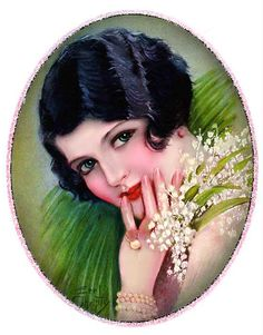 Фото, автор Mira на Яндекс.Фотках Pinup Art, Maurice Careme, Bodo, Lily Of The Valley, Woman Painting, Vintage Beauty, Vintage Prints, Vintage Art, Vintage Images