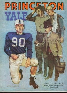 1950s  Yale-Princeton football program cover.