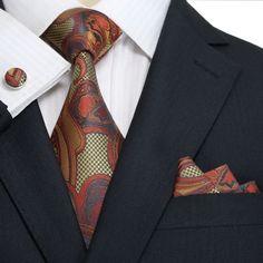 Brown Metallics Paisley Necktie Set JPM18A38 – Toramon Necktie Company