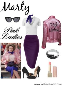 Grease Costume Idea: The Pink Ladies, T Birds, Sandy & Danny - Fashion 4 Mom