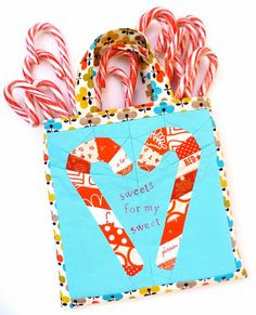 verykerryberry: Candy Cane Mini Tote Bag Tutorial
