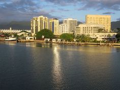 Downtown Cairns in North Queensland, Australia, is best seen from across Trinity Inlet where most shipping ties up. Fraser Island, Queensland Australia, Cairns, Brisbane, New York Skyline, Ties, Water, Travel, Outdoor