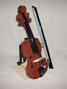 LEGO violin (detail) | Flickr - Photo Sharing!