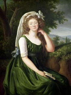 Apron dress? Definitely a chemise sleeve. Love the green. 1790s? Love it, will make!