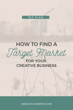 Find out how to define a target market for your creative business. You'll learn how to find your ideal customer and market to the right audience. Read more!