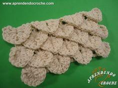 Ponto de Crochê Crocodilo - Aprendendo Croche