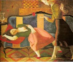Click image for 800 x 684 size. Balthasar Klossowski de Rola (February 29, 1908 – February 18, 2001), known as Balthus, was a Polish-French modern artist.