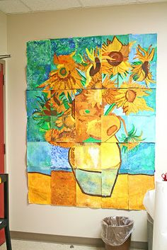 Smart class: van gogh mural school: art class in 2019 arte colaborativo, au Group Art Projects, School Art Projects, Collaborative Art Projects For Kids, Class Projects, Art Thérapeute, Foto Online, 5th Grade Art, Fourth Grade, Third Grade